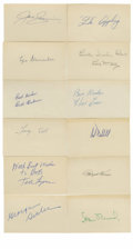 "Autographs:Index Cards, Vintage Baseball Stars Signed Index Cards Lot of 12. Here we offera group of one dozen signed 3x5"" index cards from severa..."