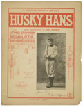 "Baseball Collectibles:Others, 1904 ""Husky Hans"" Honus Wagner Sheet Music. Highly collectiblesheet music pays tribute to the ""3 Times Champion Batsman of..."