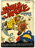 "Golden Age (1938-1955):Cartoon Character, Jingle Jangle Comics #1 Davis Crippen (""D"" Copy) pedigree (EasternColor, 1942) Condition: VG+...."