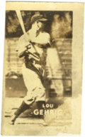 "Baseball Cards:Singles (1940-1949), 1948 Topps Magic Photos Lou Gehrig #14. From the obscure Toppsissue of 252 ""Magic Photos"" released in 1948 comes this examp..."