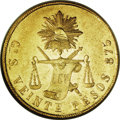 Mexico, Mexico: Republic gold 20 Pesos 1872Go-S,...
