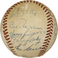 Autographs:Baseballs, 1953 Cleveland Indians Team Signed Baseball. ...