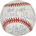Autographs:Baseballs, 1950s Baltimore Orioles Reunion Signed Baseball. ...