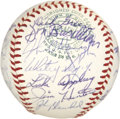 Autographs:Baseballs, 1965 Kansas City Athletics Team Signed Baseball. ...