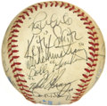 Autographs:Baseballs, 1984 New York Yankees Team Signed Baseball. ...