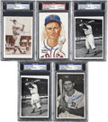 Autographs:Post Cards, Bobby Doerr Signed Photographs/Postcards, PSA Graded Group Lot of5.... (Total: 5 items)