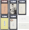 Autographs:Index Cards, Baseball Stars Signatures PSA Graded Lot of 5, Ungraded Lot of 2.... (Total: 7 items)