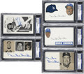 Autographs:Index Cards, Duke Snider Signed Index Cards PSA Graded Group Lot of 5....(Total: 5 items)