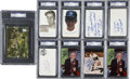 Autographs:Index Cards, Phil Rizzuto Autograph Collection, PSA Graded Group Lot of 9.... (Total: 9 items)