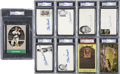Autographs:Index Cards, Stan Musial Signed Index Cards and Postcards, PSA Graded Group Lot of 9... (Total: 9 items)