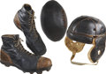 Football Collectibles:Others, Vintage Football Gear Including Helmet, Ball and Cleats.... (Total: 5 items)