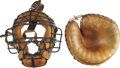 Baseball Collectibles:Others, Circa 1930s Wilson Catcher's Mitt and Mask.... (Total: 2 items)