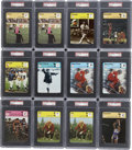 Miscellaneous Collectibles:General, 1977-79 Sportscaster Cards PSA Graded Group Lot of 31.... (Total:31 cards)