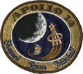 Explorers:Space Exploration, Apollo 14 Command Module Flown Embroidered Crew Patch Directly fromthe Personal Collection of Mission Lunar Module Pilot Edga...