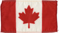 Explorers:Space Exploration, Apollo 14 Command Module Flown National Flag of Canada from thePersonal Collection of Mission Lunar Module Pilot Edgar Mitche...