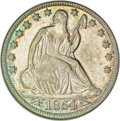 Seated Half Dollars, 1854-O 50C Arrows MS64 NGC....