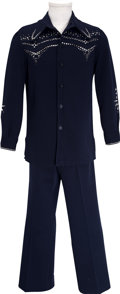 Music Memorabilia:Costumes, J. D. Sumner's Blue Suit Worn On Stage with Elvis Presley....