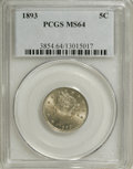 Liberty Nickels: , 1893 5C MS64 PCGS. PCGS Population (171/84). NGC Census: (156/78).Mintage: 13,370,195. Numismedia Wsl. Price for NGC/PCGS ...