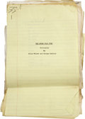 Movie/TV Memorabilia:Documents, Billy Wilder and George Axelrod The Seven Year Itch EarlyAnnotated Screenplay Draft....