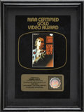 Music Memorabilia:Awards, Beatles Related - John Lennon - Live in New York City RIAAGold Video Award....