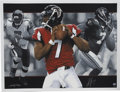 Football Collectibles:Balls, Michael Vick Signed Lithographs Lot of 5. ... (Total: 5 items)