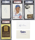Autographs:Index Cards, Vintage Baseball Stars Signed Index Cards Lot of 6, 4 Graded.... (Total: 6 items)