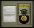 Music Memorabilia:Documents, Beatles Framed Royalty Agreement, 1965....