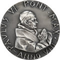 Explorers:Space Exploration, Silver Pontifical Medal Presented by Pope Paul VI to Alan & SueBean....