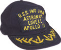 Explorers:Space Exploration, Apollo 13 Recovery Ship U.S.S. Iwo Jima Hat from thePersonal Collection of Mission Commander James Lovell....