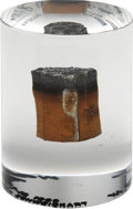 Explorers:Space Exploration, Apollo 9 Flown Heat Shield Plug in Lucite. ...