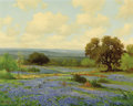 Texas:Early Texas Art - Impressionists, PORFIRIO SALINAS (American, 1910-1973). Hill CountryBluebonnets. Oil on canvas. 24 x 30-1/4 inches (61.0 x 76.8cm). Si...