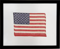 Explorers:Space Exploration, Faith 7 (Mercury-Atlas 9) Flown American Flag Signed byMission Pilot Gordon Cooper. ...