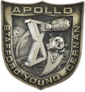 Explorers:Space Exploration, Apollo 10 Command Module Flown Silver Robbins Medallion from thePersonal Collection of Mission Lunar Module Pilot Gene Cernan...