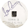 Explorers:Space Exploration, Gemini 9A Flown Heat Shield Plug in Lucite Signed by and from thePersonal Collection of Mission Pilot Gene Cernan. ...