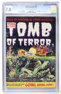 Golden Age (1938-1955):Horror, Tomb of Terror #16 (Harvey, 1954) CGC FN/VF 7.0 Light tan to tooff-white pages....