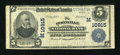 National Bank Notes:Missouri, Boonville, MO - $5 1902 Plain Back Fr. 606 The Boonville NB Ch. # (M)10915. ...