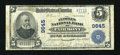 National Bank Notes:West Virginia, Fairmont, WV - $5 1902 Plain Back Fr. 601 The Peoples NB Ch. #9645. ...