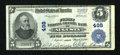 National Bank Notes:Maine, Augusta, ME - $5 1902 Plain Back Fr. 606 First National Granite Bank Ch. # 498. ...