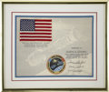 Explorers:Space Exploration, Apollo-Soyuz Test Project Flown American Flag and Mission Insigniafrom the Personal Collection of Astronaut Gene Cernan as ...