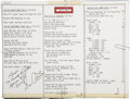Explorers:Space Exploration, Apollo 17 Lunar Module Flown Two-Page EVA Prep Checklist Signed byand from the Personal Collection of Mission Commander Gene ...(Total: 2 Items)