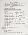 Explorers:Space Exploration, Apollo 17 Lunar Module Flown Lunar Descent Abort Checklist CardSigned by and from the Personal Collection of Mission Commande...