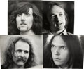 Music Memorabilia:Photos, Crosby, Stills, Nash & Young Photos by Henry Diltz.... (Total: 4 Items)