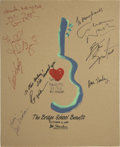 Music Memorabilia:Autographs and Signed Items, Graham Nash and Others Signed Bridge School Benefit Concert Poster(1986)....