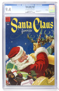Golden Age (1938-1955):Miscellaneous, Four Color #525 Santa Claus Funnies - File Copy (Dell, 1953) CGC NM 9.4 Off-white to white pages....