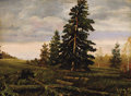 Fine Art - Painting, Russian:Other, RUSSIAN SCHOOL (20th Century). Landscape. Oil on board.11-1/2 x 15-1/2 inches (29.2 x 39.4 cm). Signed and dated lower ...