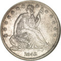 Seated Half Dollars, 1842-O 50C Small Date, Small Letters AU50 NGC....