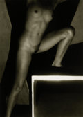 Photography :20th Century , FRANTIŠEK DRTIKOL (Czech, 1883-1961). Female Nude (Lunging), circa 1930. Toned silver gelatin, 2002. 11-1/8 x 8 inches (...
