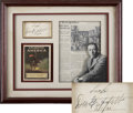 Movie/TV Memorabilia:Autographs and Signed Items, D.W. Griffith Autograph Display....