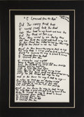"Music Memorabilia:Autographs and Signed Items, Diane Warren Handwritten ""I Learned from the Best"" Lyrics...."