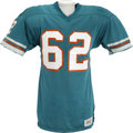 Football Collectibles:Uniforms, 1979 Jim Langer Game Worn Jersey....